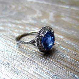 Sapphire ring.