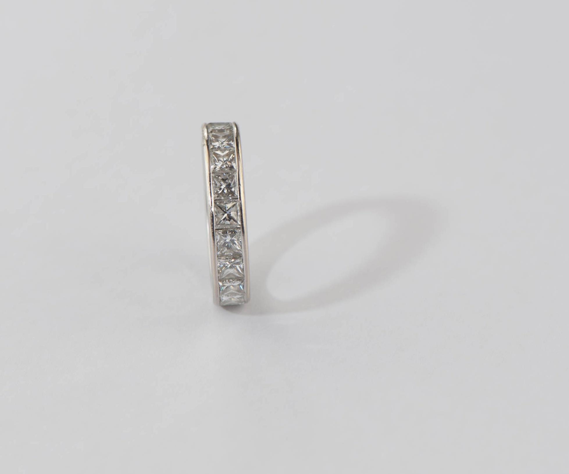 Princess diamonds ring.