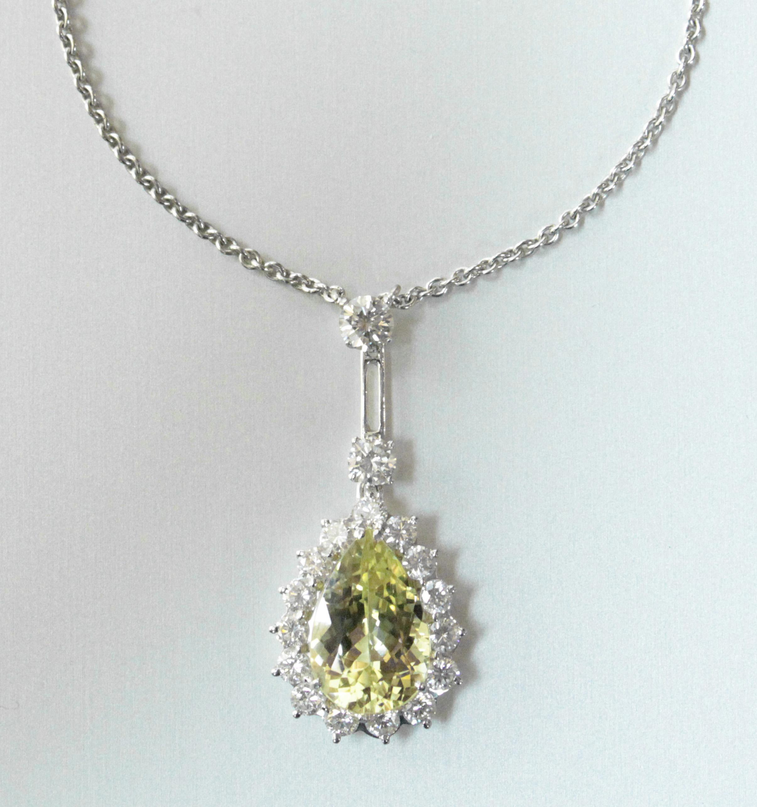 Chrysoberyl & diamond parure.