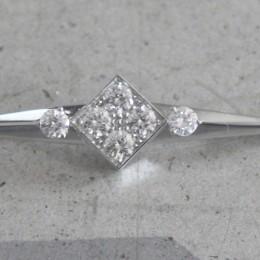 Diamond brooch.