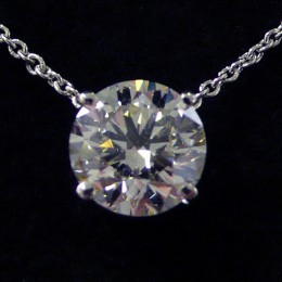 Diamond pendant.