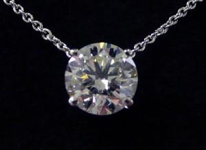 Pendentif diamant.
