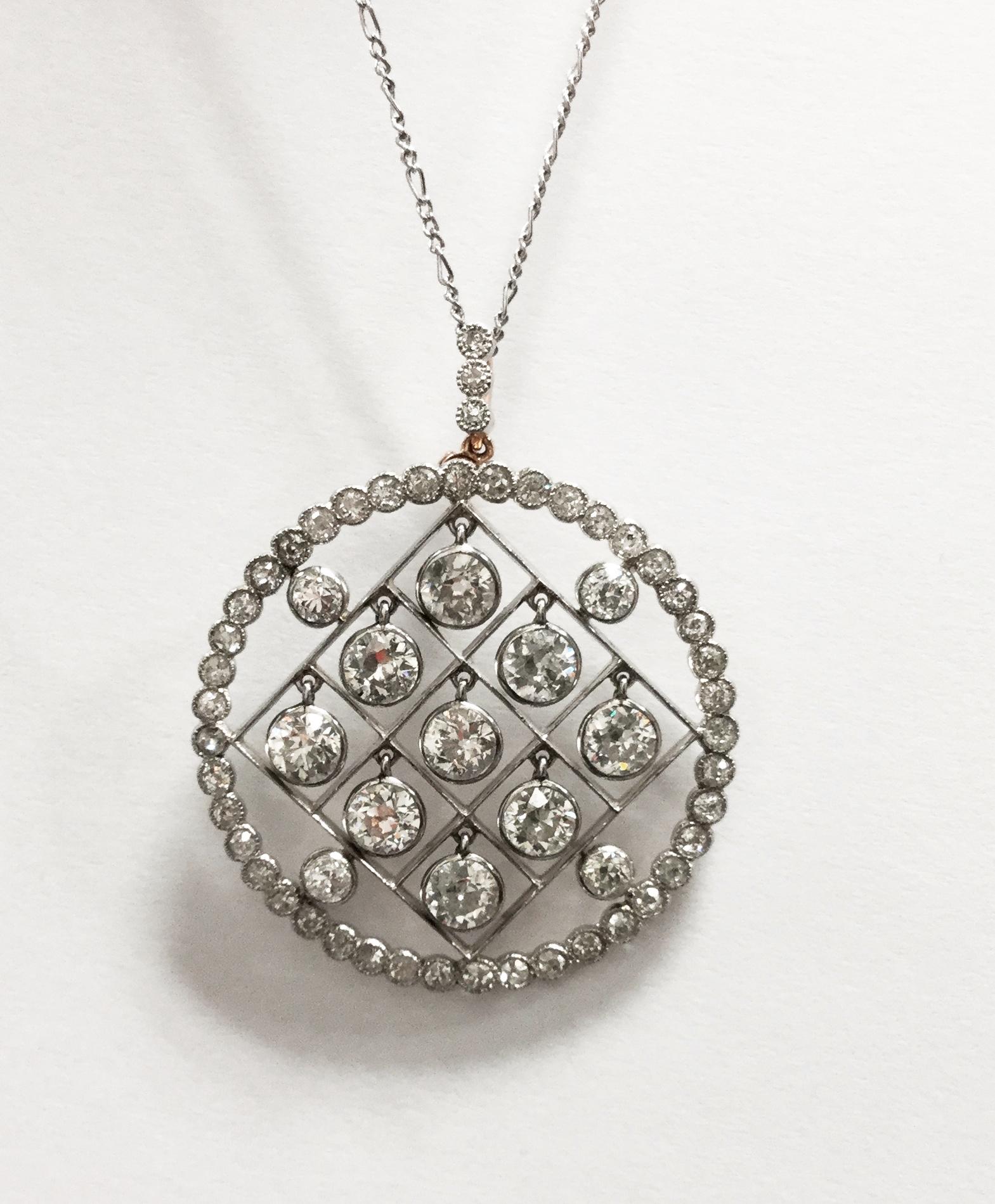 Diamond pendent.