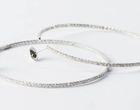 Créoles diamant (Vendu)