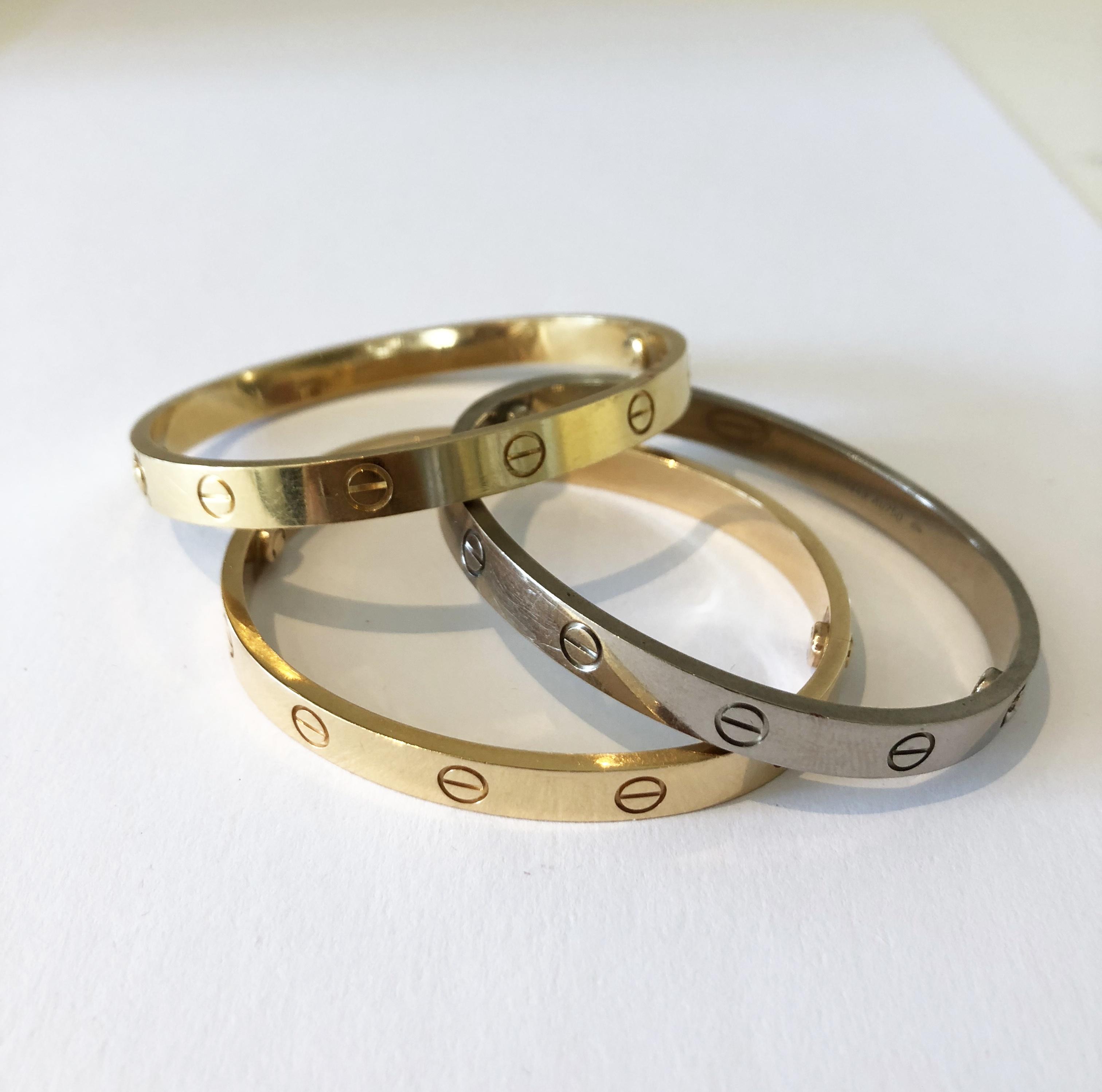 Bracelets Love, Cartier.