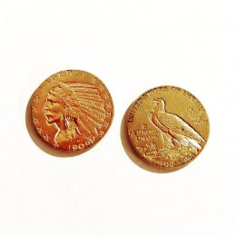 5$ Indian Head gold coins.