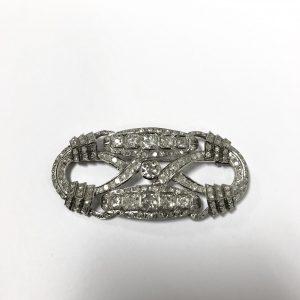 Broche platine et diamant.