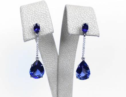 Tanzanite and diamond earrings (Sold)