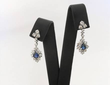 Sapphire and diamond earrings (Sold)