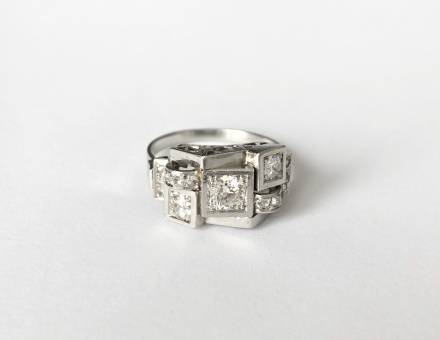 Bague platine et diamant Art Déco (A vendre)