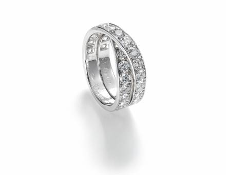 Diamond «Paris Nouvelle Vague» ring, Cartier (Sold)