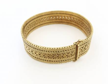 Bracelet ruban en or (Vendu)