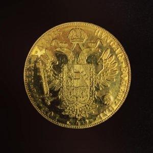 Pièce en or de 4 ducats (Vendu)