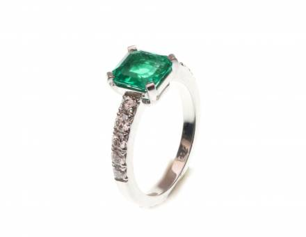 Emerald and diamond ring (Sold)