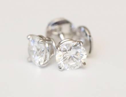 Boucles d'oreille diamant (Vendu)